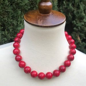 "Jewelry - 🌹Red ""Marble"" Statement Necklace 🌹"